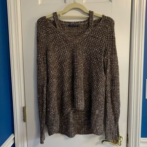 American Eagle Brown and White Cozy Sweater
